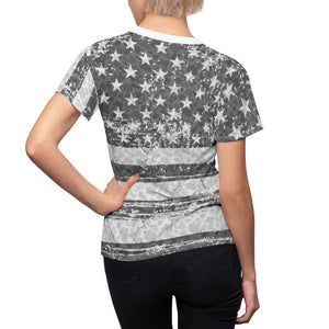 american flag camo allover print t shirt