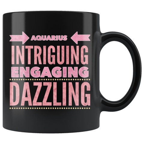 Image of Aquarius Astrology Quote Black Mug