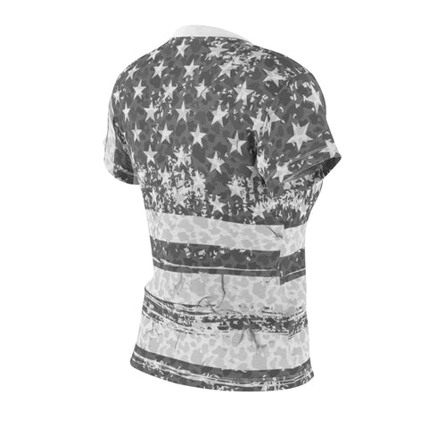 american flag black and white camo allover print t shirt