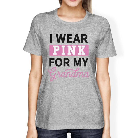 Image of I Wear Pink For My Grandma Womens Shirt