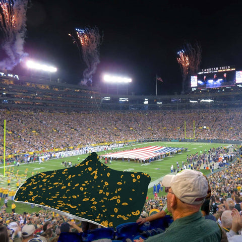 Green Bay Packer Fans Unofficial Hooded Blanket Team Colors
