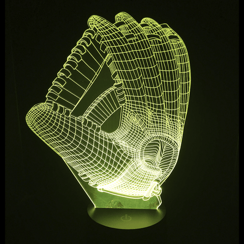 Image of Basketball Glove 3D LED Lamp