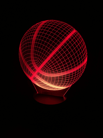 Image of Basketball 3D LED Lamp