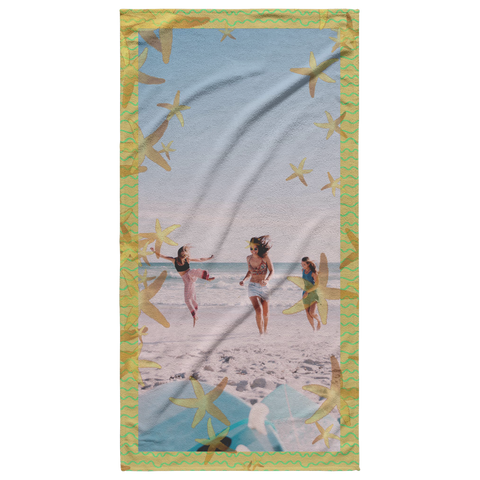starfish beach towel add photo