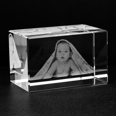 Image of Personalized Photo Crystal Block