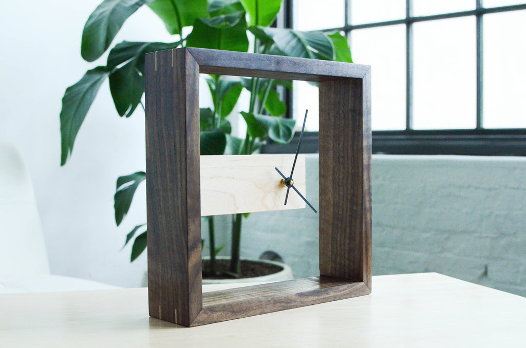 Modern Asymmetric Frame Table or Wall Clock