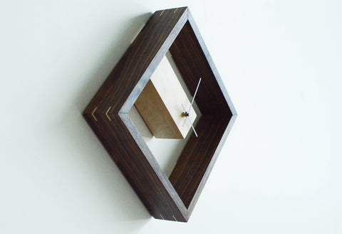 modern wood clock made in the usa