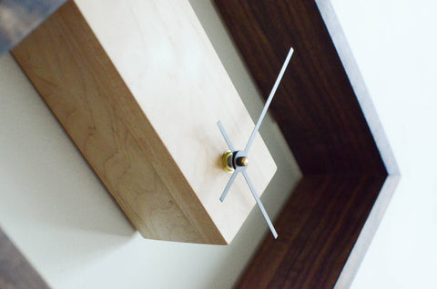 Image of modern wood clock