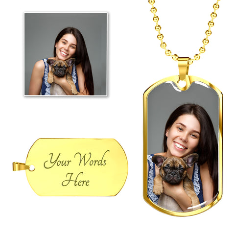 Image of add pet photo to necklace