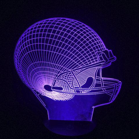Image of Football Helmet 3D LED Lamp
