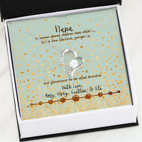personalized message card gift grandmother