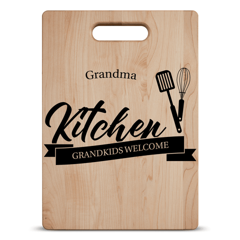 Image of Grandkids Welcome Personalized Cutting Board Add Names