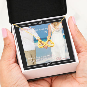 Personalized Photo Message Card and Infinity Necklace-My Reason