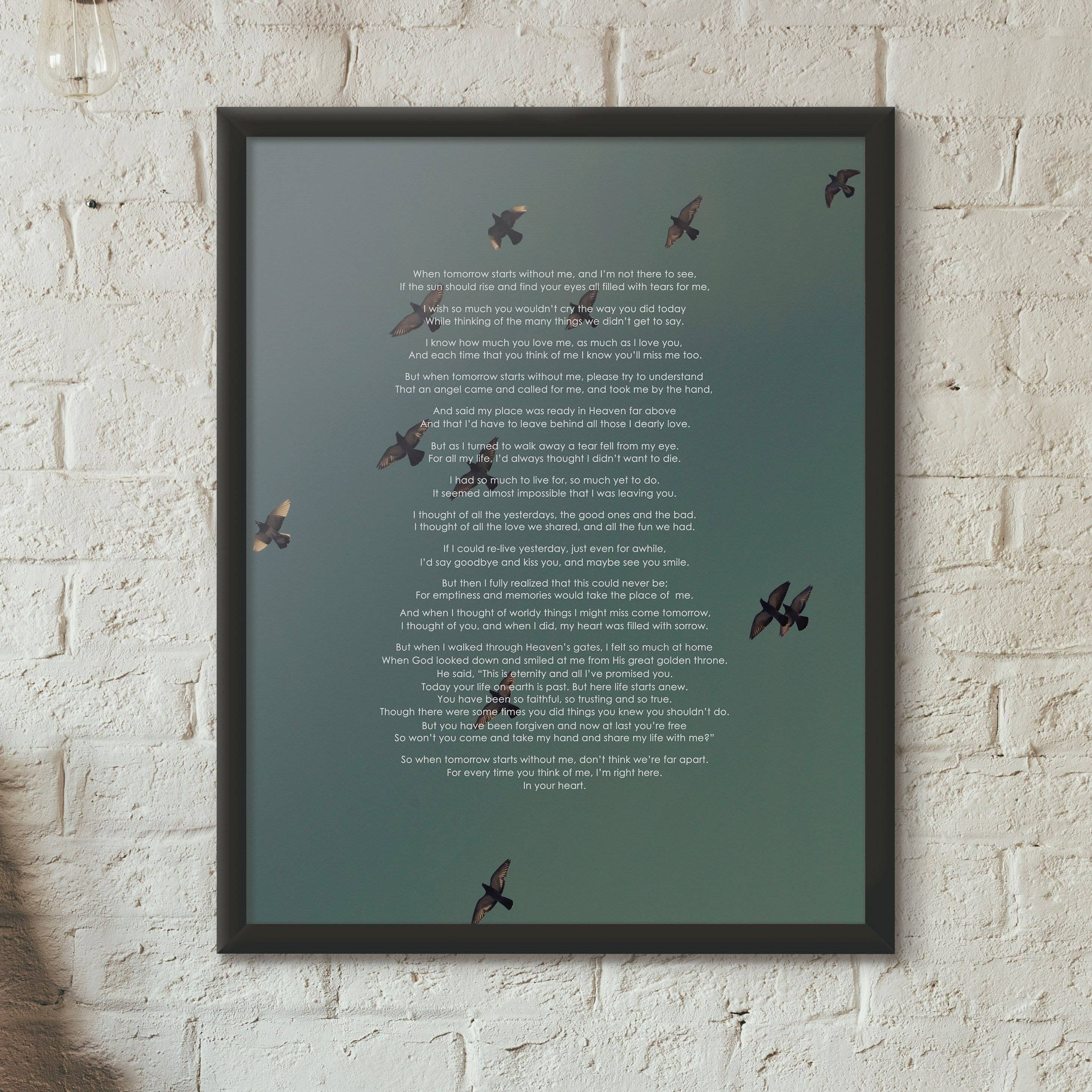 Memory Poem Poster Raggzz Custom Styles - Impossible poem