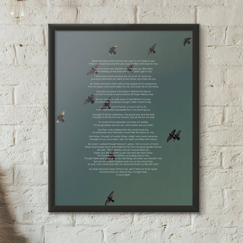 Image of Memory Poem Poster