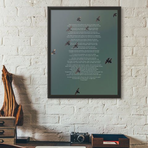 Image of Memory Poem Wall Art