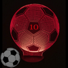 Soccer Ball 3D Illusion LED Lamp