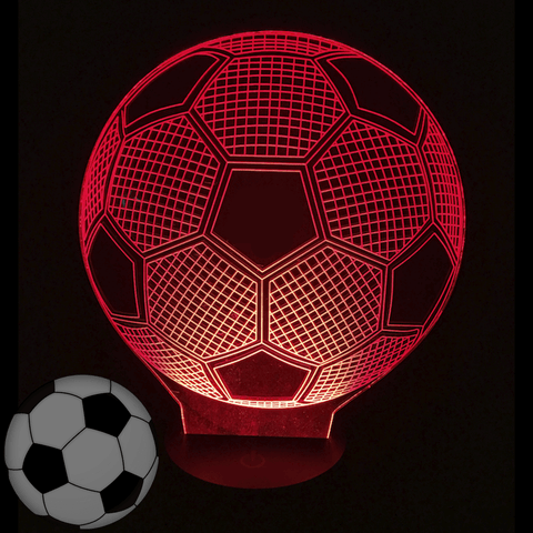 Image of Soccer Ball 3D Illusion LED Lamp