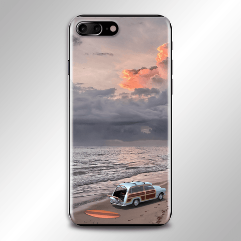 Surfboard Beach Scene Phone Case