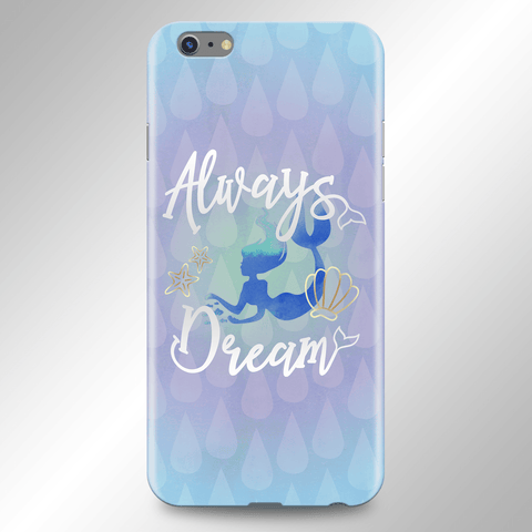 Image of Mermaid Art Phone Case Blue Purple