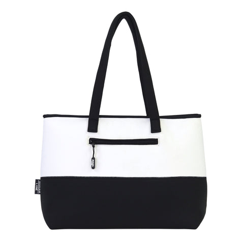 Image of Black and White Milano Blanca Purse