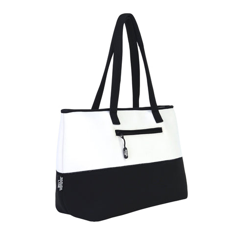 Black and White Milano Blanca Purse