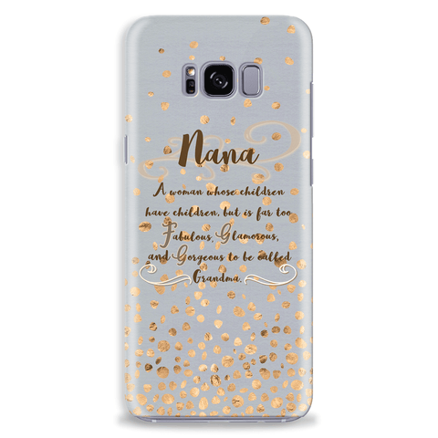 Image of Nana Gift Idea Mobile Phone Case