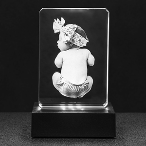 personalized crystal block etched photo inside