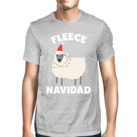 Image of Fleece Navidad Grey Men's Shirt Funny Christmas Gift Graphic Tee