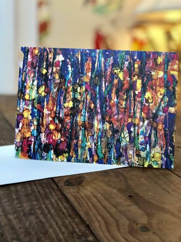 Image of Abstract Forest Prints and Cards