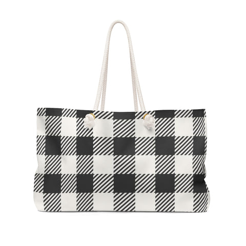 Image of Black and White Buffalo Check Weekender Bag