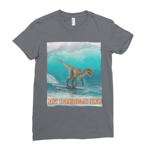 OG Jeffreys Bay Surfing Dinosaur Youth Short Sleeve T-Shirt