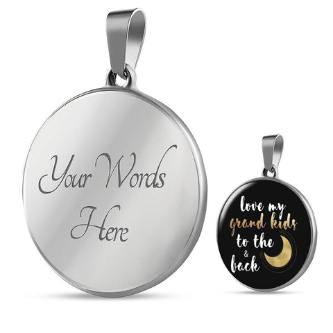 Love My Grandkids to the Moon and Back Necklace