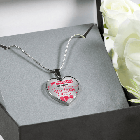 Image of Key to my heart grandma jewelry gift