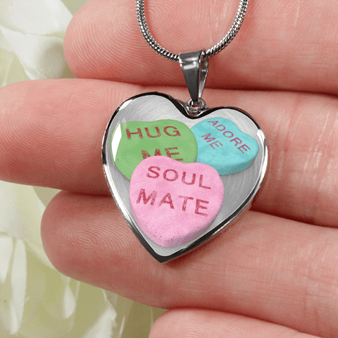 Image of candy hearts necklace gift