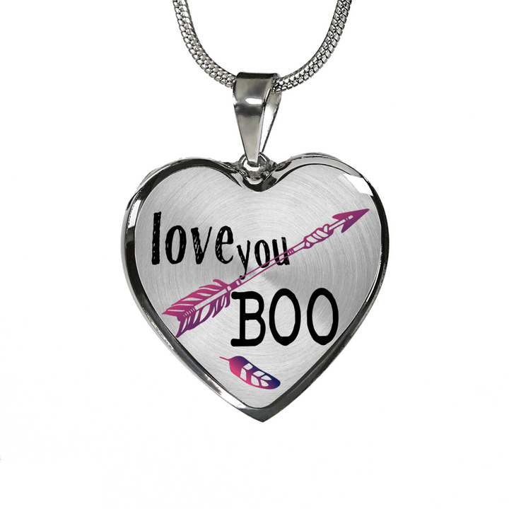 Love you boo couples and bff heart necklace and bracelet optional love you boo couples and bff heart necklace and bracelet optional inscription aloadofball Images