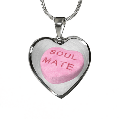 soul mate candy heart necklace custom design