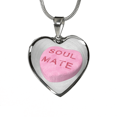 Image of soul mate candy heart necklace custom design