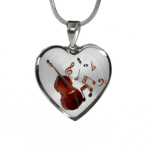 Double Bass Music Lover's Necklace Bracelet
