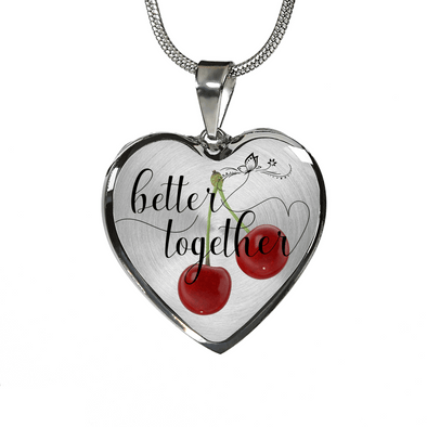 Valentines Day gift for her better together custom design necklace