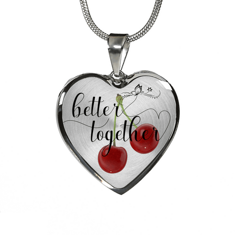 Image of Valentines Day gift-Anniversary Gift - Couple's Romantic gift for her better together custom design necklace