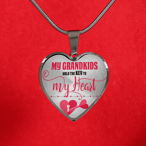Grandkids Key Heart Shaped Necklace bracelet