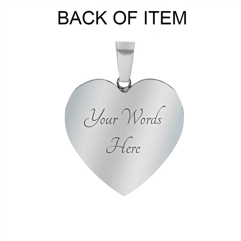 Image of Veni Vidi Amavi We Came We Saw We Loved Heart Necklace and/or Bracelet With Optional Inscription