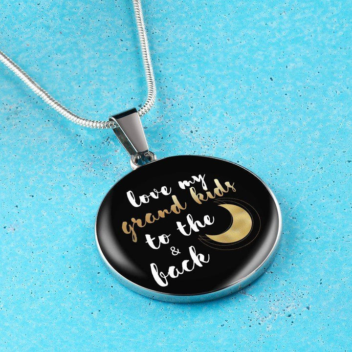 Love My Grandkids to the Moon and Back Necklace and ...