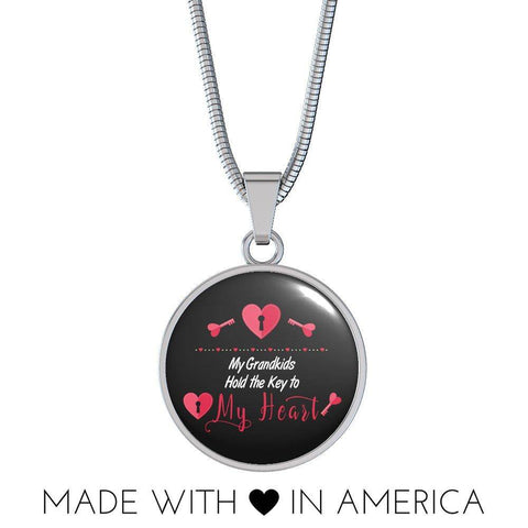 Image of My Grandkids Hold the Key to My Heart Necklace