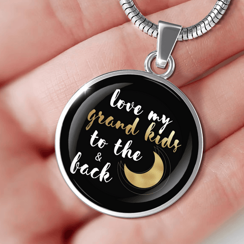 Image of Love My Grandkids to the Moon and Back Necklace