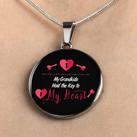 My Grandkids Hold the Key to My Heart Necklace