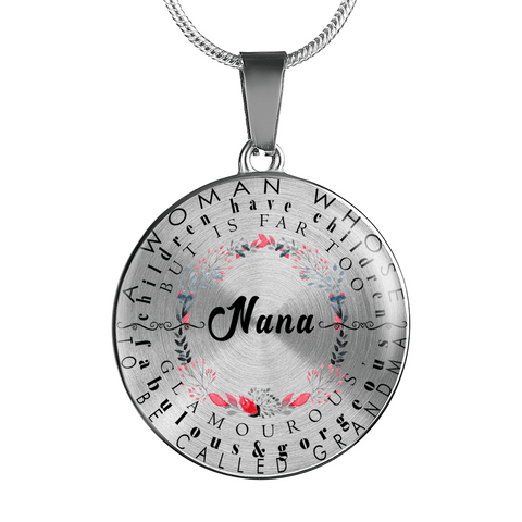 nana necklace gift add inscription
