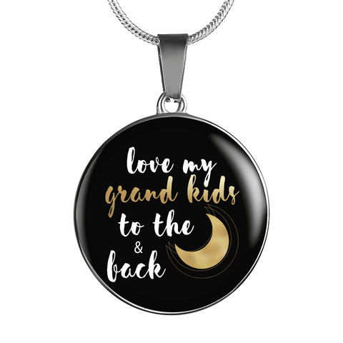 Love My Grandkids to the Moon and Back Necklace Custom Design