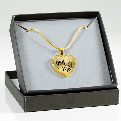 Image of You and Me Heart Necklace - Bracelet - Add Inscription
